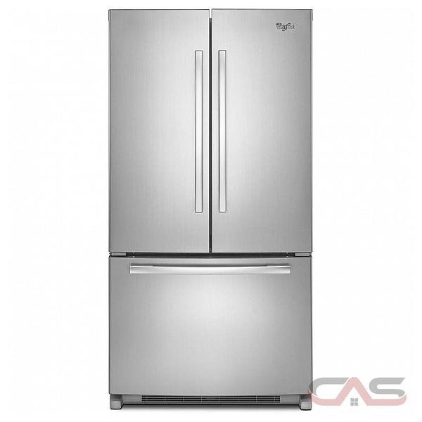 """Whirlpool French Door Counter Depth Refrigerator: Whirlpool WRF540CWBW French Door Refrigerator, 36"""" Width"""