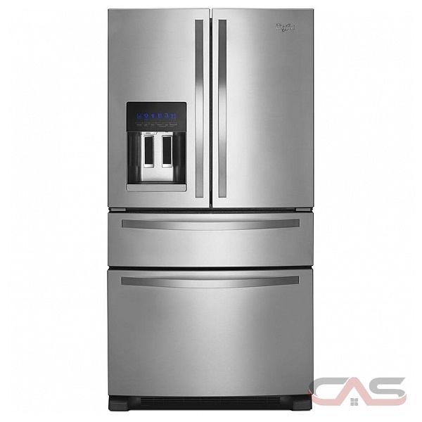 "Whirlpool WRX735SDBM French Door Refrigerator, 36"" Width ..."
