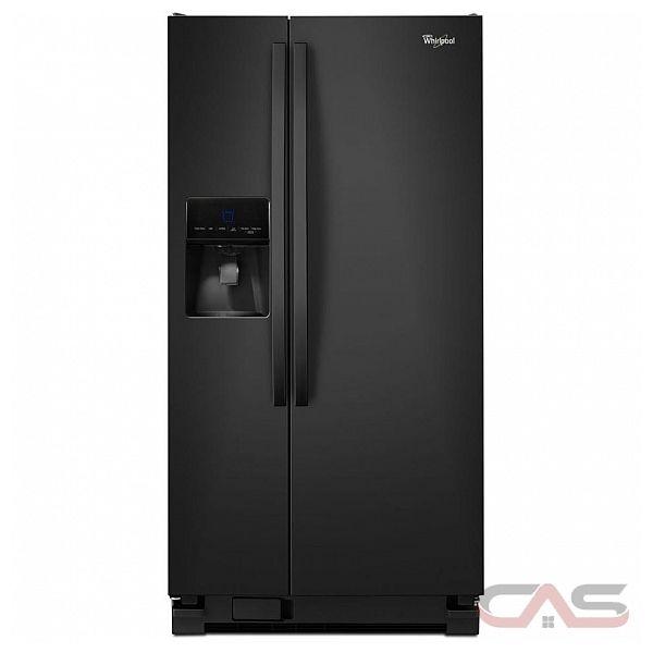 Whirlpool wrs342fiab side by side refrigerator 33 width thru door ice dispenser energy for Interior water dispenser refrigerator
