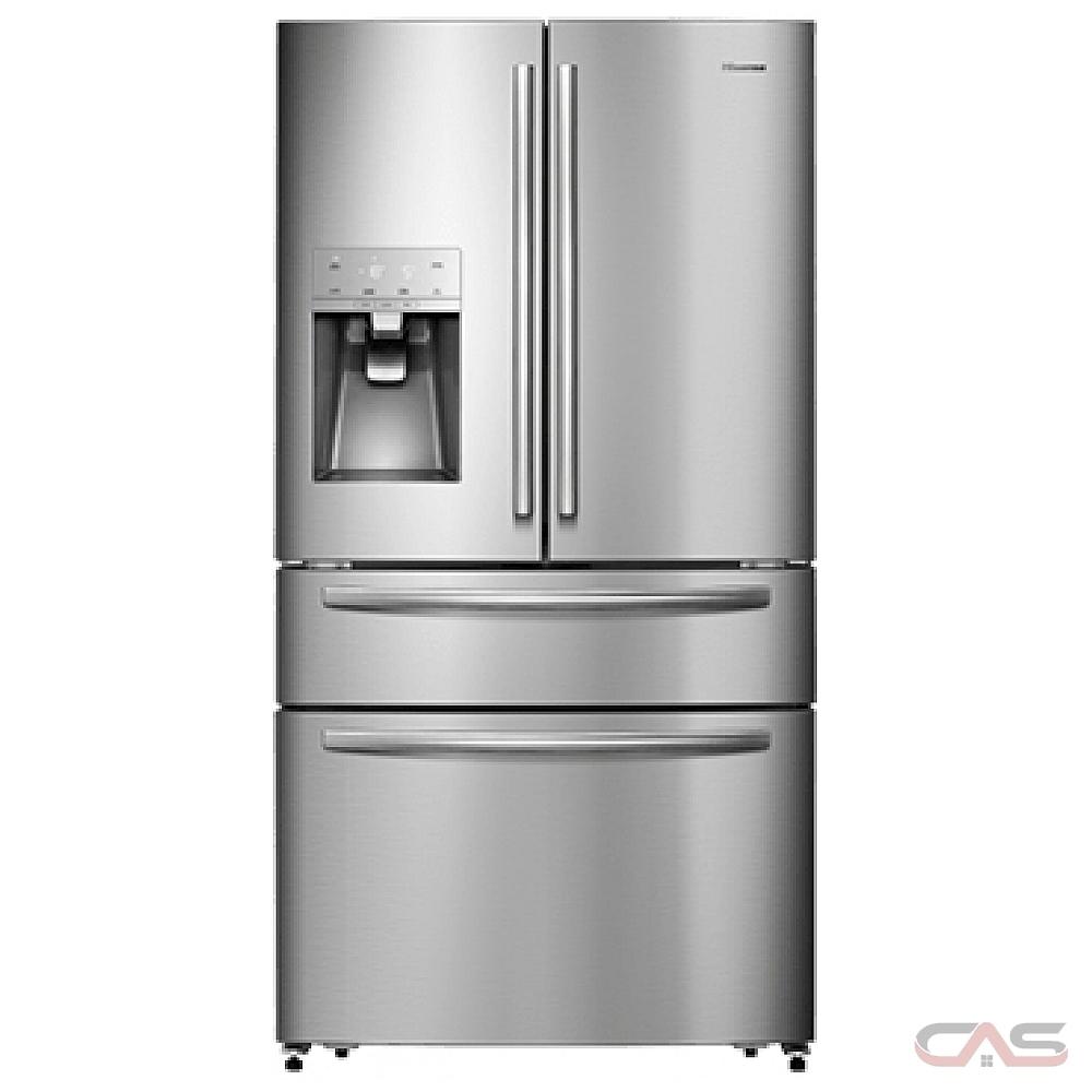 Hisense RF21N1ASD, 36 Width, Thru Door Ice Dispenser, Energy Efficient,  21 2 Capacity, Exterior Water Dispenser, LED Lighting, Stainless Steel  colour