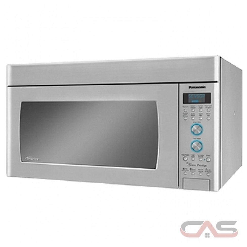 Micro Onde Au Dessus Du Four micro-onde à hotte intégrée panasonic nnsd291s , 30 largeur extérieure,  1100w watts, 2.0 cu. ft. pi. cu., del, 450 cfm, couleur acier inox
