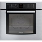 Bosch (HBL8450UC) 800 series, 30 inch, Capacity: 4.7 cu.ft., True Glass Touch Control , European Speed Convection, Recessed Heating Element, Flush-to-Cabinet Design, High Quality Rack Supports