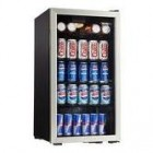 Danby DBC120BLS 18'' Beverage Center with 128 Can Capacity, Tempered Glass Door with Stainless Trim, 3.5 Wire Shelves and Door Lock