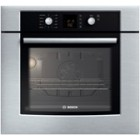 Bosch (HBL3450UC) 300 series, 30 inch, Capacity: 4.7 cu.ft., Convection Bake, Broil, Roast, Flush-to-Cabinet Design, Ergonomic Dials with Glass Touch Control, Recessed Heating Element