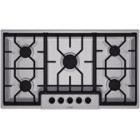 Bosch (NGM3654UC) 300 Series 36 inch, 5 burners, 14K BTU Max, low profile continuous grates, front centre control knobs, auto re-ignition, recessed maintop