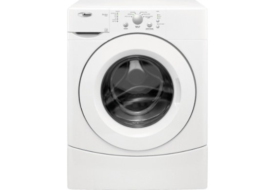 Amana YNFW7300WW Front Load Washer, 27 in, 4.0 Cu.Ft, with 6 Wash Cycles, 3 Temperatue Settings, 1,100 RPM Spin Speed and 3-Tray Dispenser