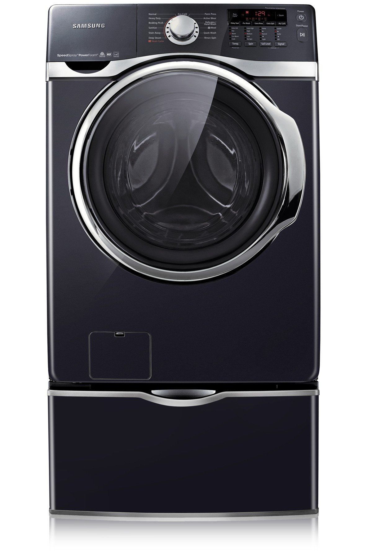Samsung WF397UTPAGR Large Capacity Front-Load Steam Washer 4.6 cu.ft, Internal Heater, Pure Cycle technology, VRT technology, LED display