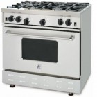 BlueStar RNB Series RNB366  Pro-Style Gas Range 36 in with Open Burners, 5.0 cu. ft. Convection Oven, Manual Clean and Ceramic Infrared Broiler