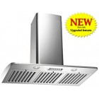 Kobe RA2230SQB-1 Hood, 30'' Exterior Width, Chimney, Outside / Ducting, 700 CFM, Stainless Steel colour