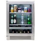 True Professional Series TBC-24-L-SG-A Beverage Center, 13 bottle capacity, Zero-clearance hinging, Low-E, double pane, UV tinted glass, True Precision Control, TrueFlex shelving system