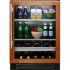 True Professional Series TBC-24-R-OG-A Beverage Center, 13 bottle capacity, Zero-clearance hinging, Low-E, double pane, UV tinted glass, True Precision Control, TrueFlex shelving system