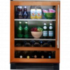 True Professional Series TBC-24-L-OG-A Beverage Center, 13 bottle capacity, Zero-clearance hinging, Low-E, double pane, UV tinted glass, True Precision Control, TrueFlex shelving system