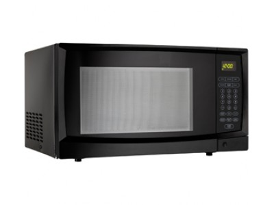 Danby DMW1110BLDB Countertop Microwave, 1.1 Cu.Ft, with 10 Power Levels, 1000 Watts, Automatic oven light and turntable