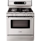 Bosch (HGS7282UC)  700 series, Full SS Finish Including Door, Backguard & Control Panel, Professional Style Continuous Matte Grates, 2 Power Burners (16k + 12.5k BTU) + 2 Simmer Burners, Capacity: 5.1