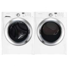 1)Frigidaire FFFS5115PW 27 in Front-Load Steam Washer with 3.9 cu. ft. Capacity, 10 Wash Cycles,5 temp<br>2)Frigidaire CFSE5115PW 27in Electric Steam Dryer 7.0 Cu.Ft.,15 cycles, 5 temp