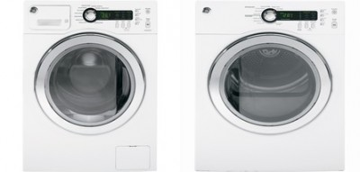 1)GE WCVH4800KWW Compact Washer, 24in, 2.6 Cu.Ft, Multiple Cycles, 1400 rpm. <br> 2)GE PCVH480EKWW Compact Electric Dryer, 24 in, 4.0 Cu.Ft, 6 Cycles, 4 Temperatures.