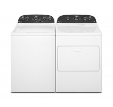 Whirlpool WTW4850BW Top Load Washer 27 in with 4.2 cu. ft. Capacity, 11 Wash Cycles, 5 Water Temperatures<br>Whirlpool WGD4850BW 29 in Gas Dryer with 7.0 cu. ft. Capacity.