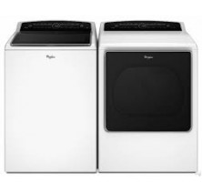 Whirlpool WTW8500DW Top Load Washer 6.1 cu. ft<br>Whirlpool YWED8500DW Electric Dryer Cabrio High Efficiency Platinum 8.8 Cu. Ft. Capacity