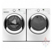 Whirlpool WFW87HEDW Front Load Washer, 5.0 Cu. Ft., Steam.<br>Whirlpool WGD87HEDW Front Load Gas Dryer, 7.4 Cu.ft,