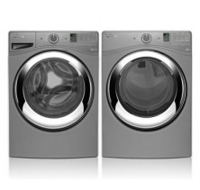 Whirlpool WFW87HEDC Front Load Washer, 5.0 Cu. Ft., Steam.<br>Whirlpool WGD87HEDC Front Load Steam Gas Dryer, 7.4 Cu.ft.