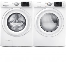 Samsung WF42H5000AW Front Load Washer<br>Samsung DV42H5000EW Electric Dryer