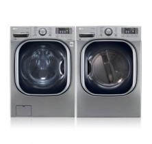 LG WM4270HVA Front Load Washer with 5.2 cu. ft. Capacity.<br>LG DLEX4270V Front-Load Electric Dryer with 7.4 cu. ft. Capacity