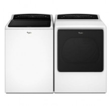 Whirlpool WTW8000DW 6.1 cu. ft. Washer<br>Whirlpool WGD8000DW 8.8 cu. ft. Gas Steam Dryer