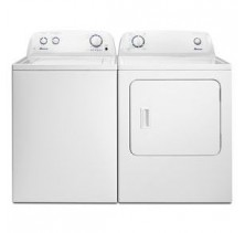 Amana NTW4605EW 3.5 cu. ft. Washer<br>Amana NGD4655EW 6.5 cu. ft. Gas Dryer