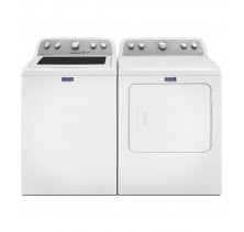 Maytag MVWX655DW 5.0 cu. ft. Top Load Washer<br>Maytag YMEDX6STBW 7.0 cu. ft. Electric Steam Dryer