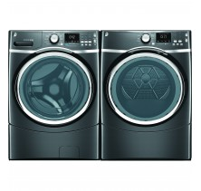 GE GFWS1705HDG 5.0 Cu. Ft. Front Load Washer<br>GE GFMS175EHDG 7.5 Cu.Ft. Electric Dryer