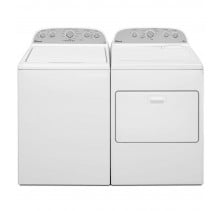 Whirlpool WTW5000DW 5.0 cu. ft. Top Load Washer<br>Whirlpool WGD49STBW 7.0 cu. ft. Gas Dryer
