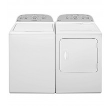 Whirlpool WTW5000DW 5.0 cu. ft. Washer<br>Whirlpool YWED49STBW 7.0 cu. ft.  Electric Steam Dryer