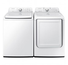 Samsung WA40J3000AW 4.8 cu. Ft. Top Load Washer<br>Samsung DV40J3000EW 7.2 cu.Ft. Electric Dryer