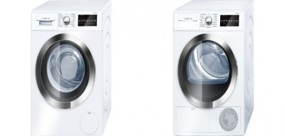 "Bosch WAT28402UC 24"" Front Load Washer with 2.2 cu. ft.<br>Bosch WTG86402UC 24"" Compact Electric Dryer with 4.0 cu. ft."