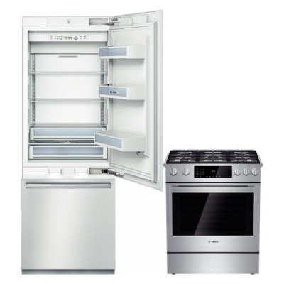 Bosch Kitchen Appliance Package Range Hdi8054c Built In Refrigerator B30bb830ss From Canadian