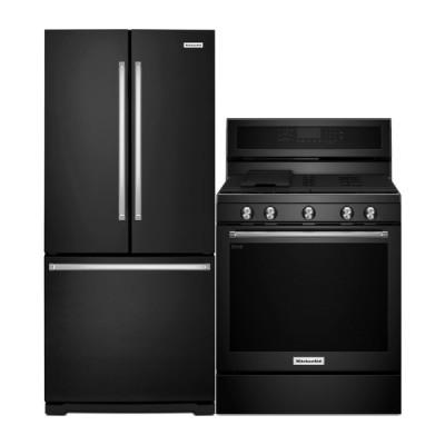 KitchenAid Kitchen Appliances Sale French Door Refrigerator KRFF300EBL Range