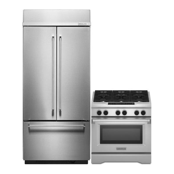 KitchenAid Kitchen Appliances Sale Built In Refrigerator KBFN406ESS Range KDR