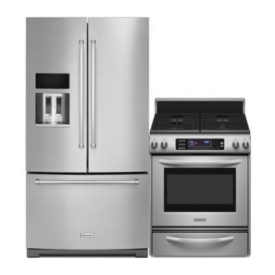KitchenAid Kitchen Appliances Sale French Door Refrigerator KRFF507ESS Range