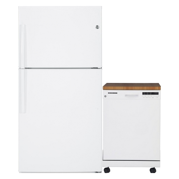 Gte21gthww gpf400sgfww from canadian appliance source - Portable dishwasher stainless steel exterior ...