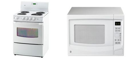 GE Kitchen Appliances Packages Range JCAS730MWW Countertop Microwave JES1145W