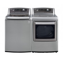 LG WT5270CV 5.6 cu ft. Top Load Washer<br>LG DLE5270V 7.3 cu.ft. Electric Dryer