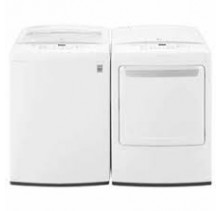 LG WT1501CW 5.2 cu ft. Top Load Washer<br>LG DLE1501W 7.3 cu.ft. Electric Dryer
