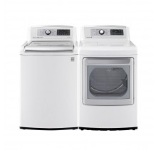 LG WT5680HWA 6.1 cu. ft. Top Load Washer<br>LG DLEX5780WE 7.3 cu.ft. Electric Dryer