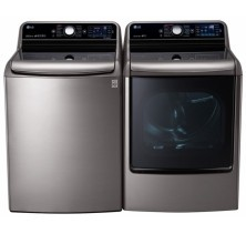 LG WT7700HVA  5.7 cu ft, Top Load Washer<br>LG DLGX7701VE 9.0 cu.ft. Gas Dryer