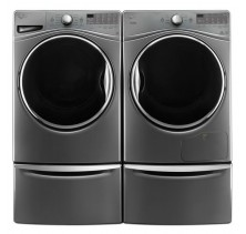 Whirlpool WFW92HEFU 5.2 Cu Ft., Front Load Washer<br>Whirlpool YWED92HEFU 7.4 Cu Ft., Electric Dryer