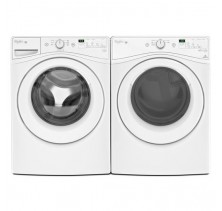 Whirlpool WFW7590FW 4.8 Cu Ft., Front Load Washer<br>Whirlpool YWED75HEFW 7.4 Cu Ft., Electric Dryer