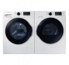 Samsung WW22K6800AW 2.6 cu.ft, Top Load Washer<br>Samsung DV22K6800EW  4.0 cu.ft, Electric Dryer