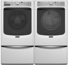 Maytag Maxima MHW8200FW 5.2 Cu Ft IEC, Front Load Washer<br>Maytag Maxima YMED8200FW 7.4 Cu Ft., Electric Dryer