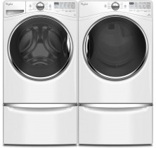 Whirlpool WFW92HEFW 5.2 Cu Ft Steam Front Load <br>Whirlpool YWED92HEFW 7.4 Steam Electric Dryer