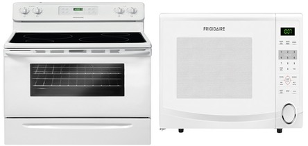 Frigidaire Countertop Electric Stove : Frigidaire CFEF3014TW Range Frigidaire CFCM1134LW Countertop Microwave ...